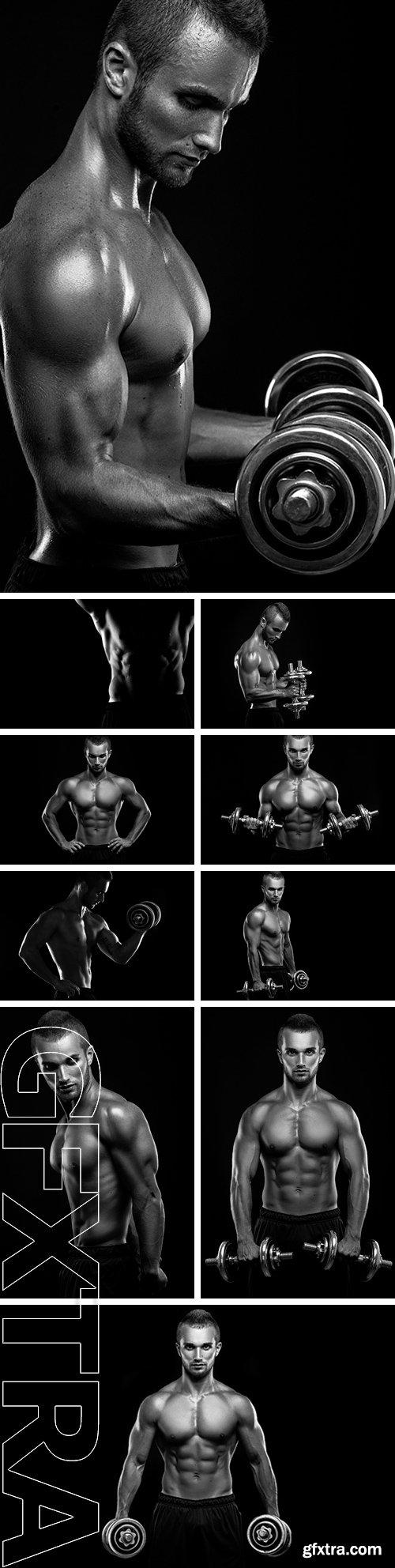 Stock Photos - Bodybuilder on a black background