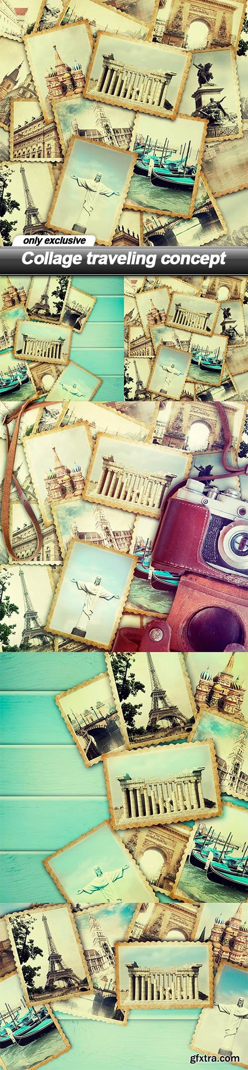 Collage traveling concept - 5 UHQ JPEG