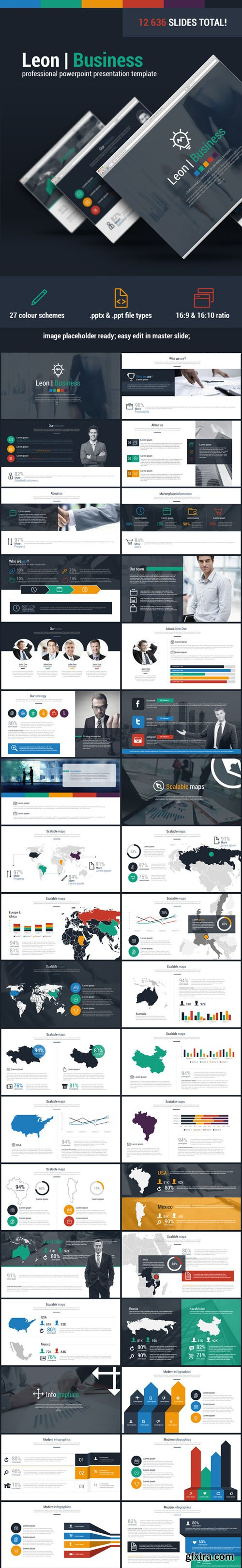 Graphicriver - Leon Business Powerpoint Presentation Template 11084650