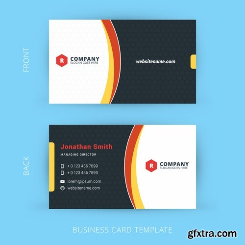 Vector image collection of business card template visiting card 3 vector image collection of business card template visiting card 3 25 eps reheart Images