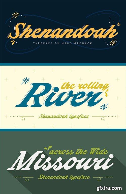Shenandoah - Lovely, Flowing & Professional Typography OTF $59