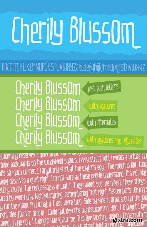 Cherily Blussom - Funny Handmade Typeface