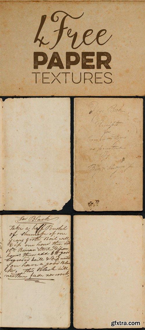 4 Vintage Old Paper Textures