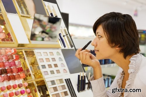 Collection of perfume shop selling perfume girl interior shelving 25 HQ Jpeg