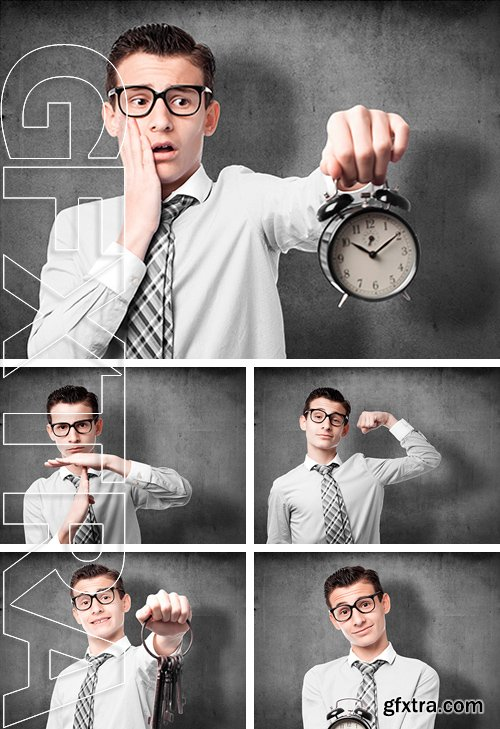 Stock Photos - Businessman showing different gestures
