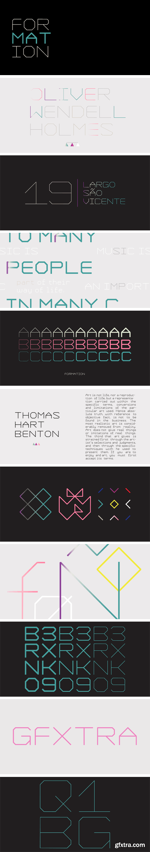 YWFT Formation Font Family