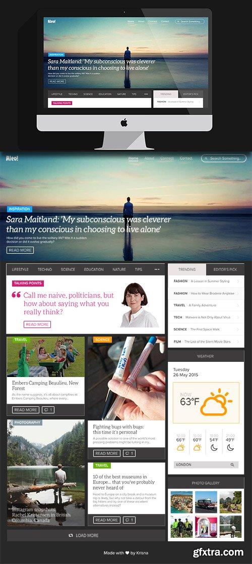 PSD Web Template - Aleo
