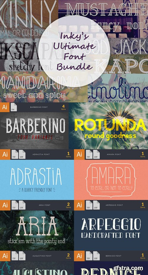 Ultimate Font Bundle: 52 Beautiful OpenType Fonts worth $1,530