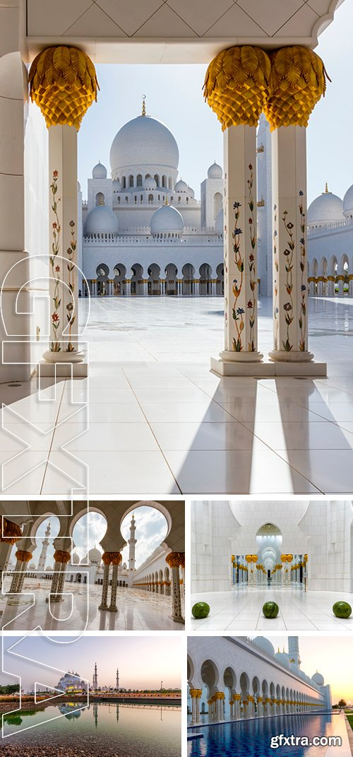 Stock Photos - Shaikh Zayed Grand Mosque, the Largest Mosque in United Arab Emirates