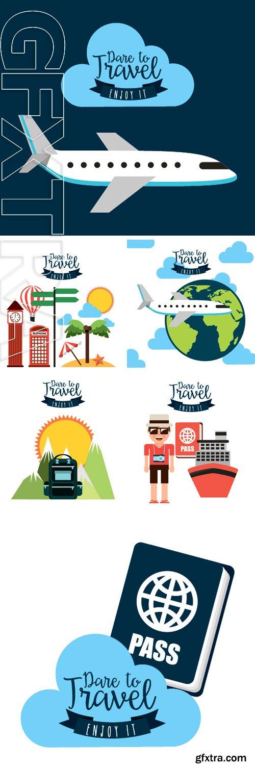 Stock Vectors - Travel vacations design, vector illustration  graphic