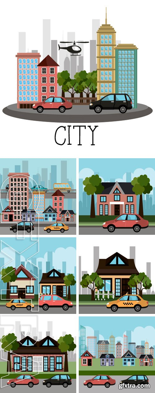 Stock Vectors - Urban digital design, vector illustration