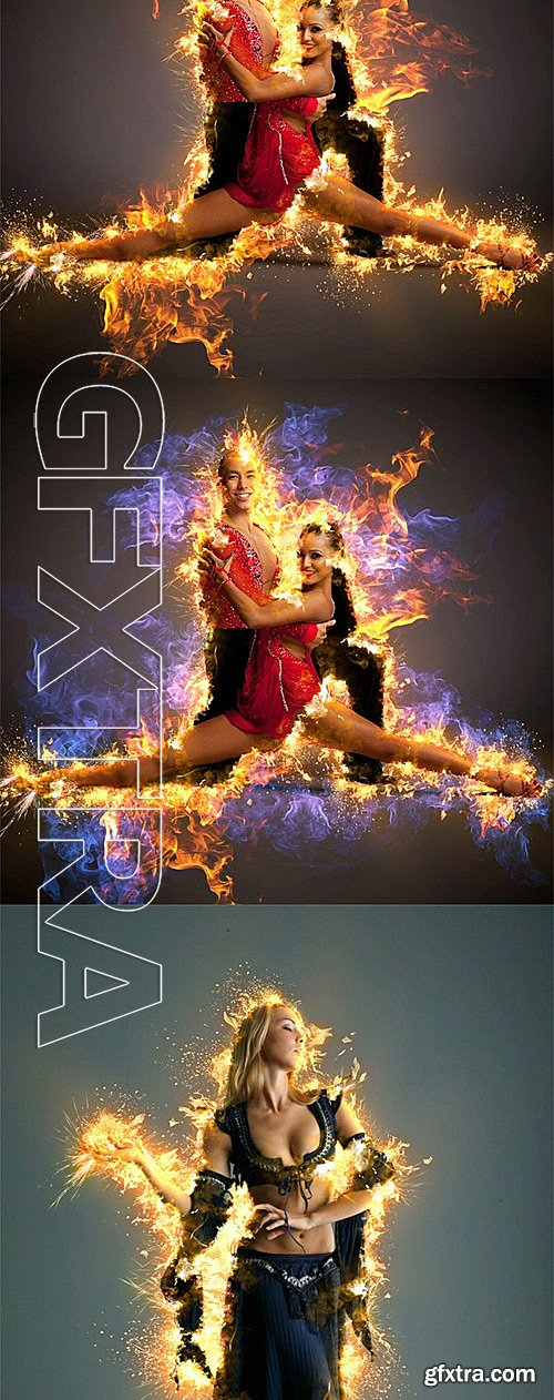 GraphicRiver - AfterBurn 3 Photoshop Action 11993889