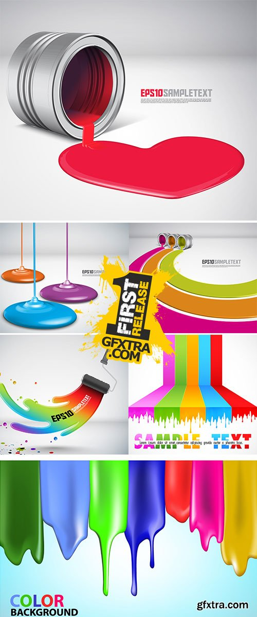 Stock - Vector Paint Dripping