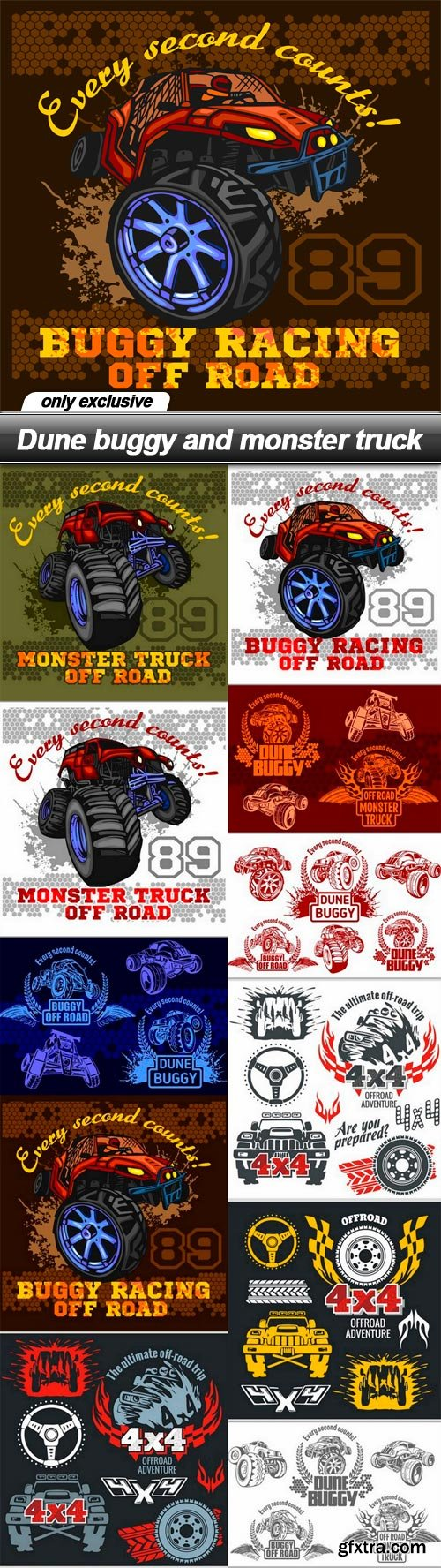 Dune buggy and monster truck - 11 EPS