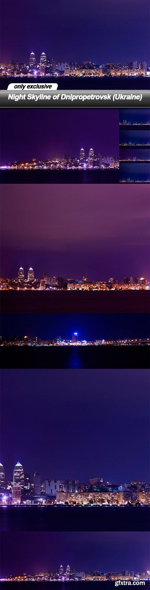 Night Skyline of Dnipropetrovsk (Ukraine) -  9 UHQ JPEG
