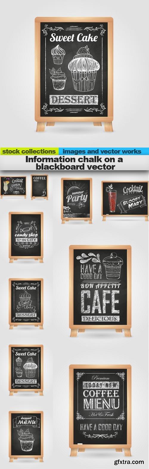 Information chalk on a blackboard vector, 10 x EPS