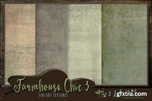 Farmhouse Chic 3 Fine Art Textures - 2 Lil Owls Studio Textures