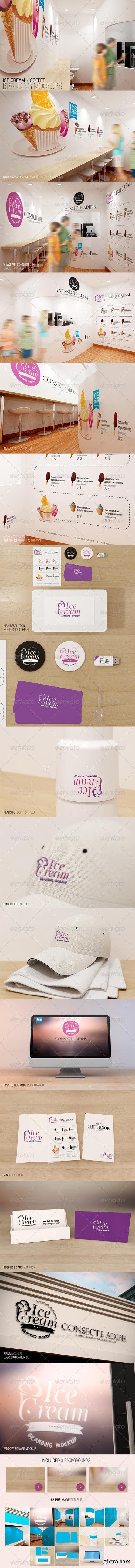 GraphicRiver - Ice Cream - Coffee Branding Mockups