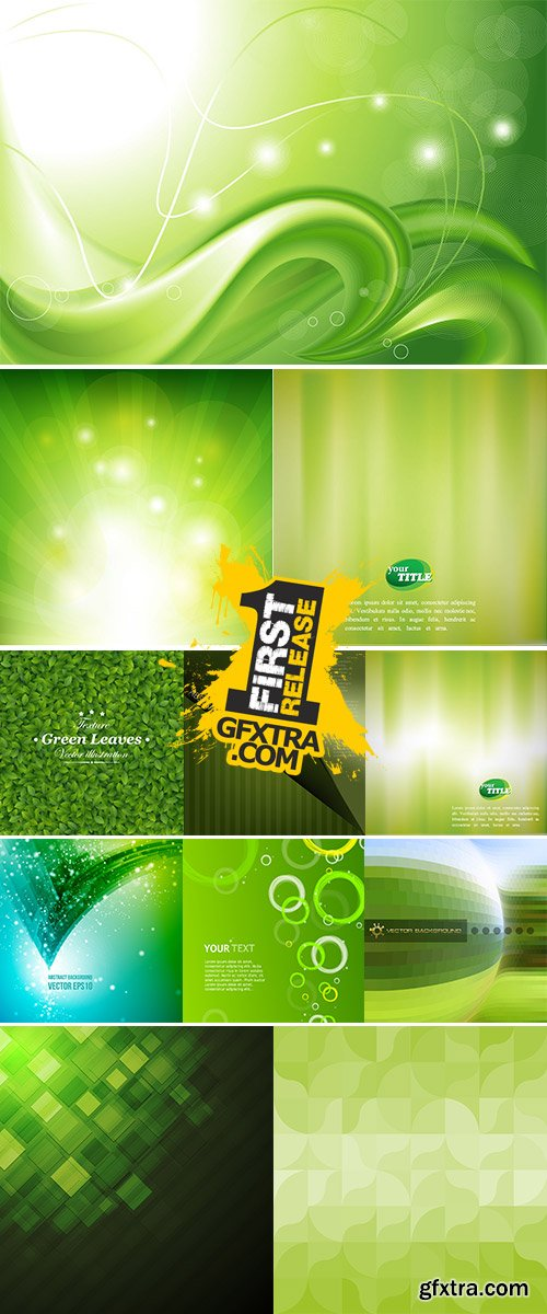 Abstract green background vectors stock