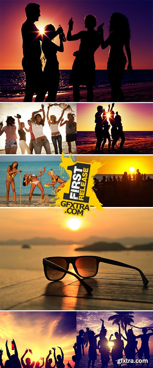 Stock Images Beach party