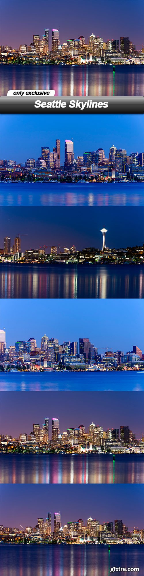 Seattle Skylines - 5 UHQ JPEG