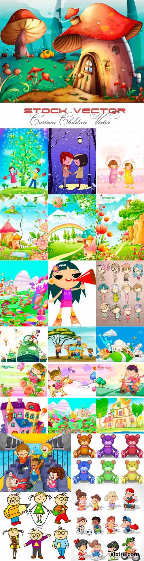 Cartoon children vector images