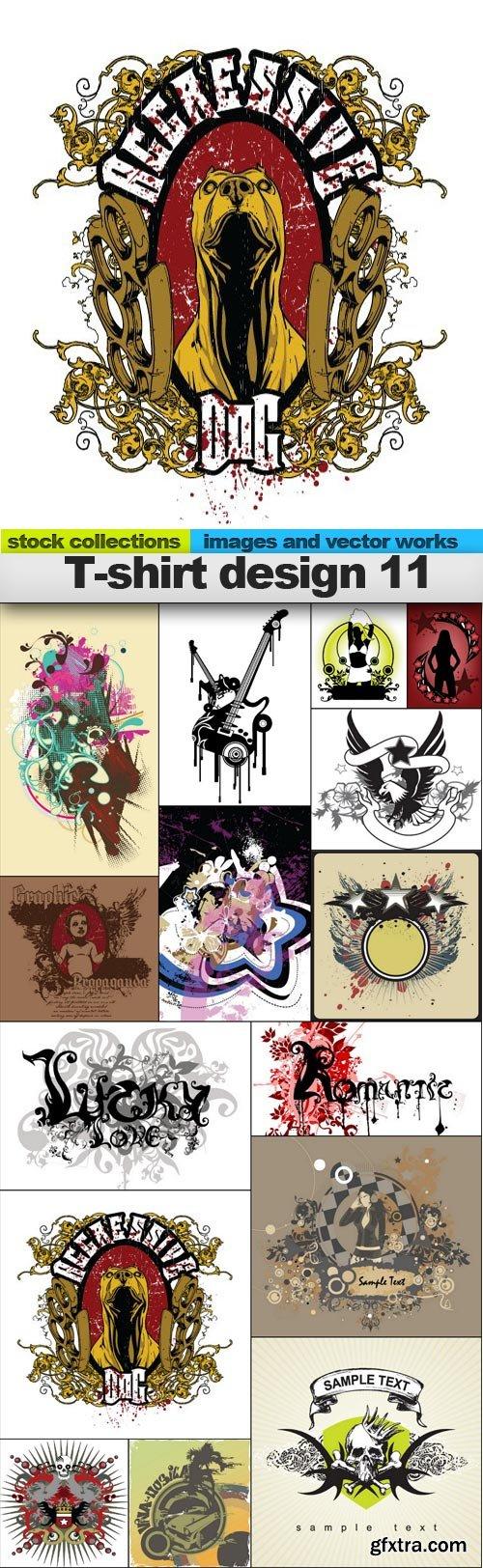 T-shirt design 11, 15 x EPS