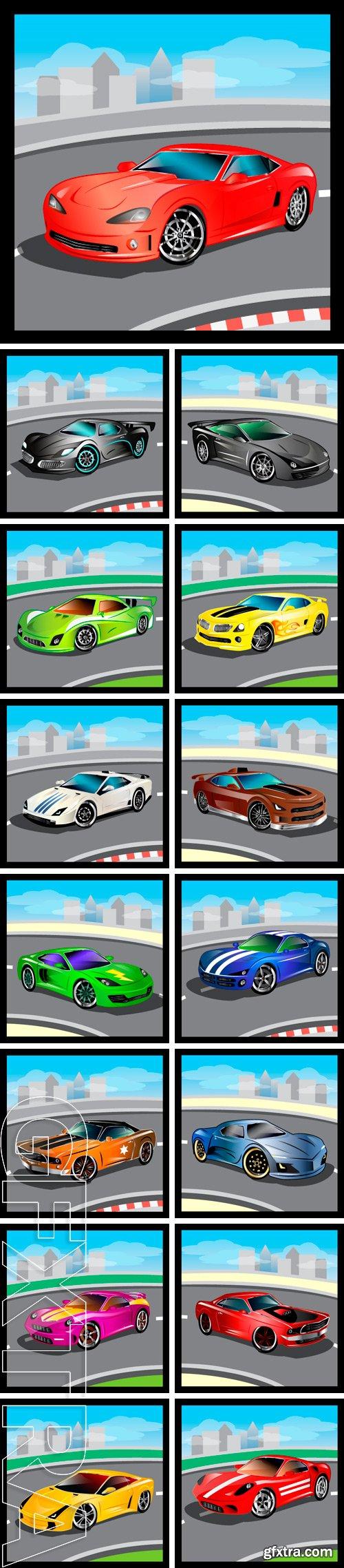 Stock Vectors - Luxury vector cartoon sports car
