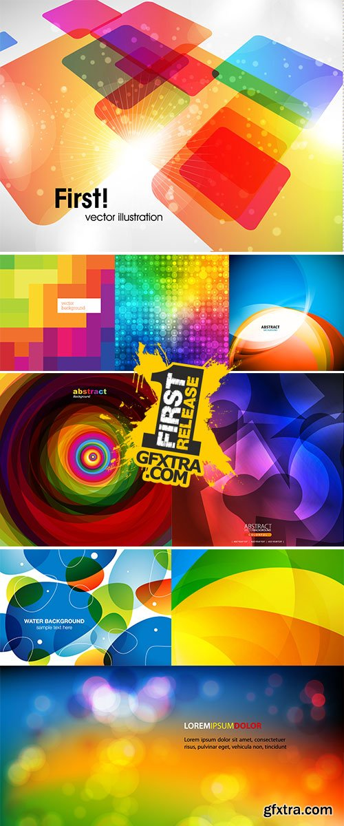 Abstract colorful background vectors