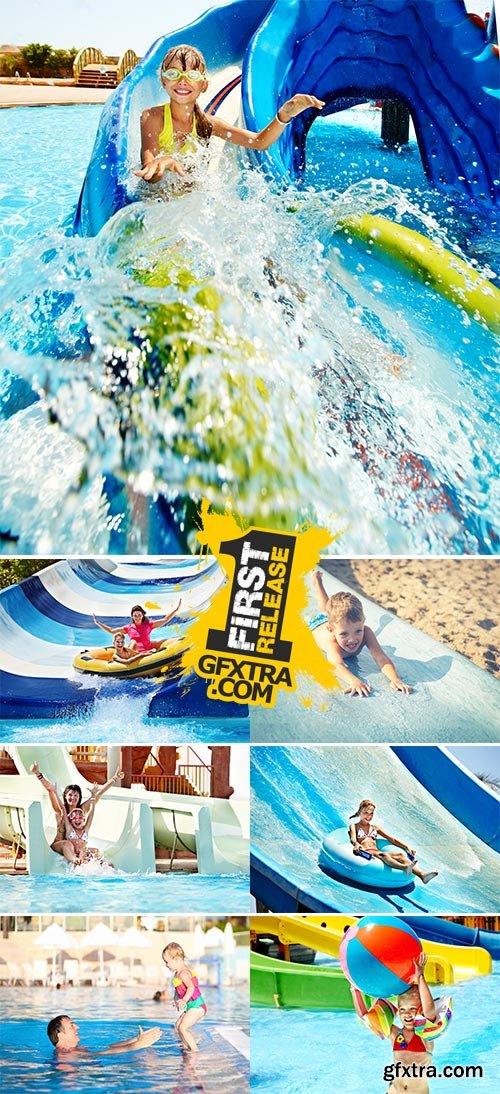 Stock Photos - Aquapark, summer holiday