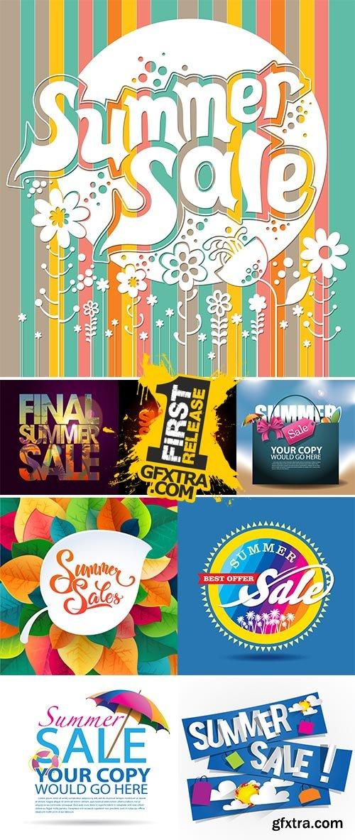 Stock Summer sale advertisement poster vectors