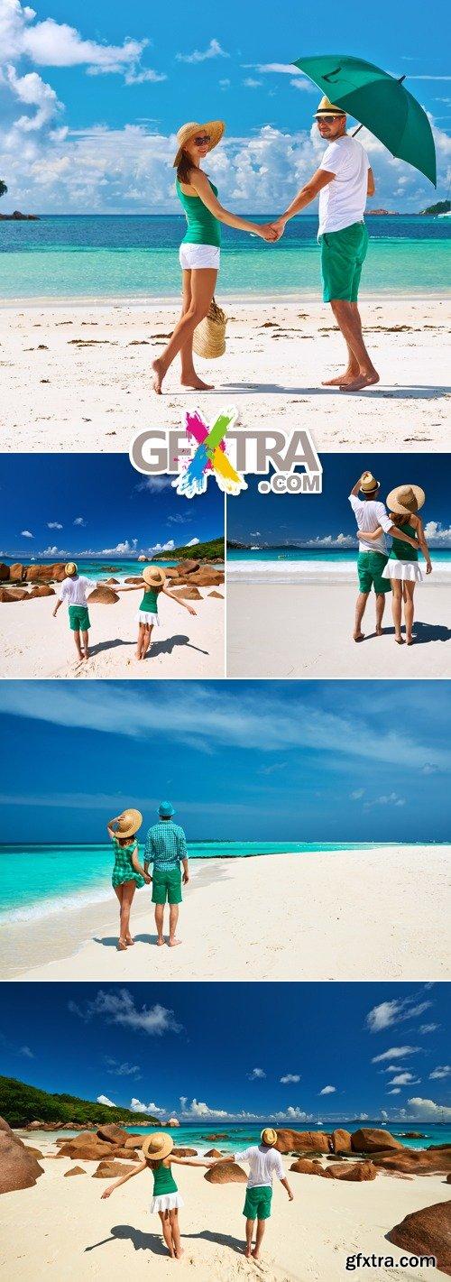 Stock Photo - Couples on the Beach