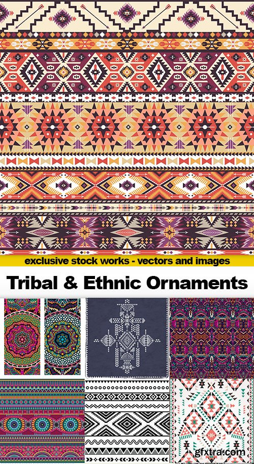 Tribal & Ethnic Ornaments, 25xEPS