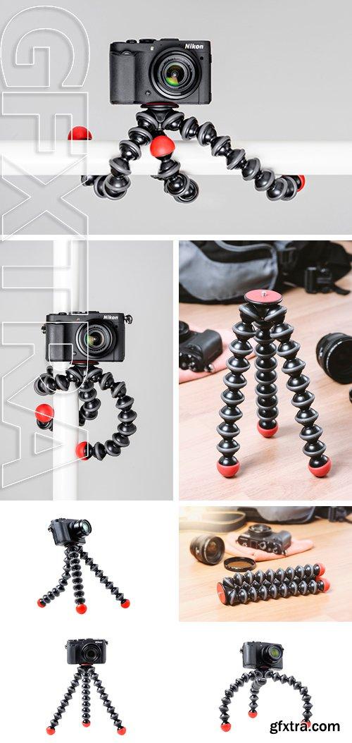 Stock Photos - Flexible camera tripod