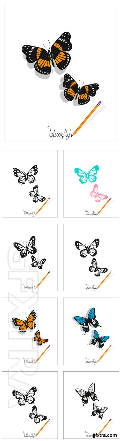 Stock Vectors - Butterfly tattoo