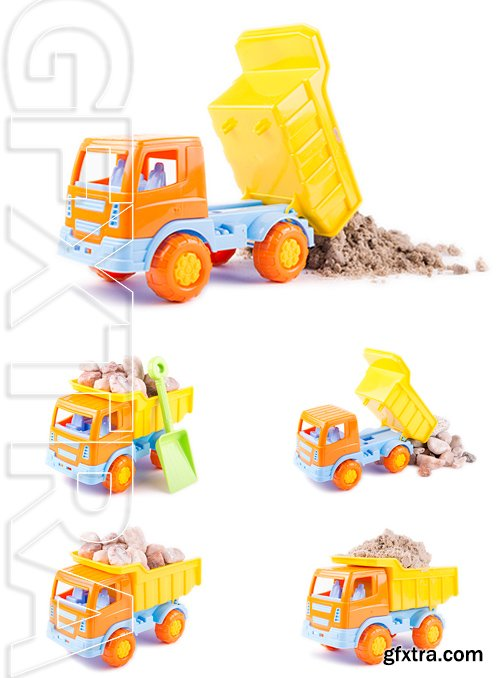 Stock Photos - Toy truck isolated on a white background
