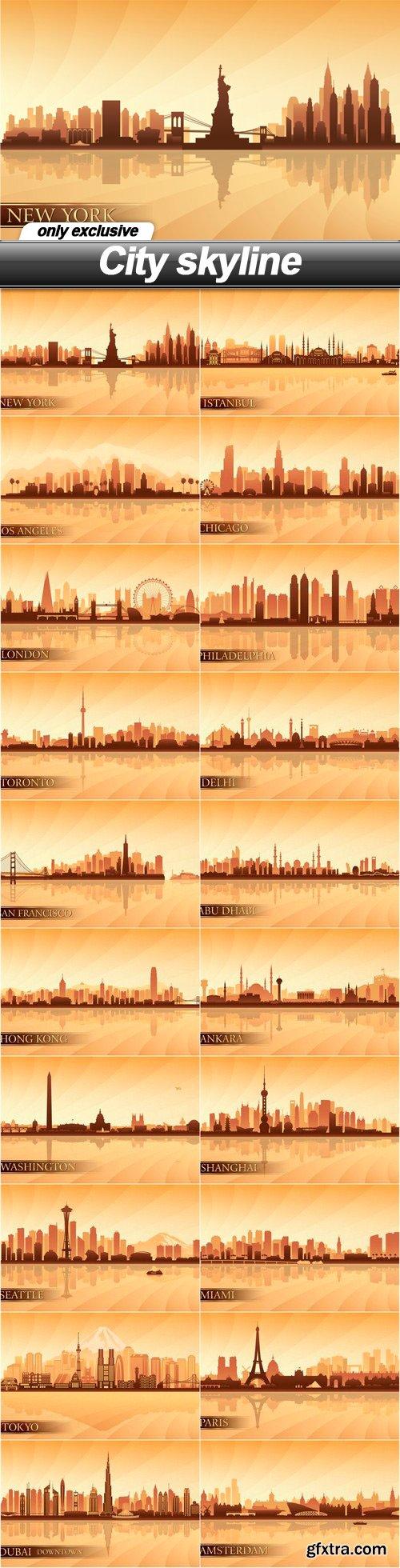 City skyline - 20 EPS