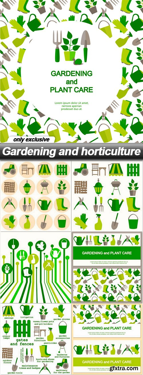 Gardening and horticulture - 7 EPS