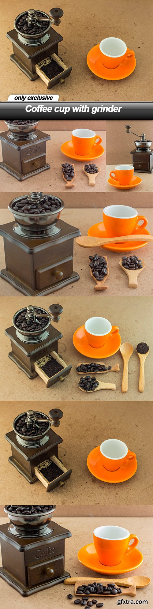Coffee cup with grinder - 7 UHQ JPEG
