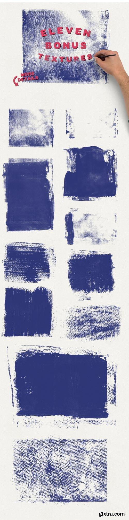 CM 294369 - Watercolor Brushes + Bonus Textures!