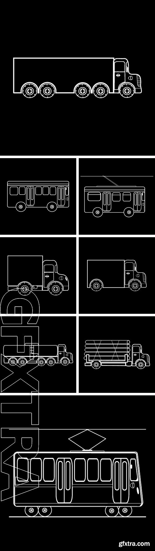 Stock Vectors - Transport. Black and white silhouette of the car