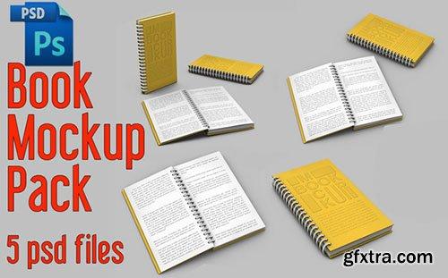 CreativeMarket Spiral Book Mock-Up