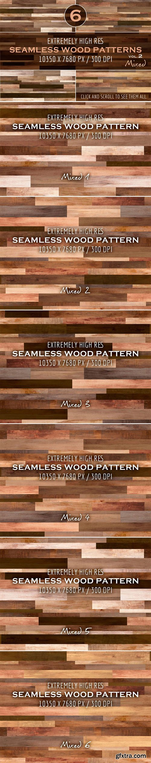Extremely HR seamless wood patterns - CM 288147