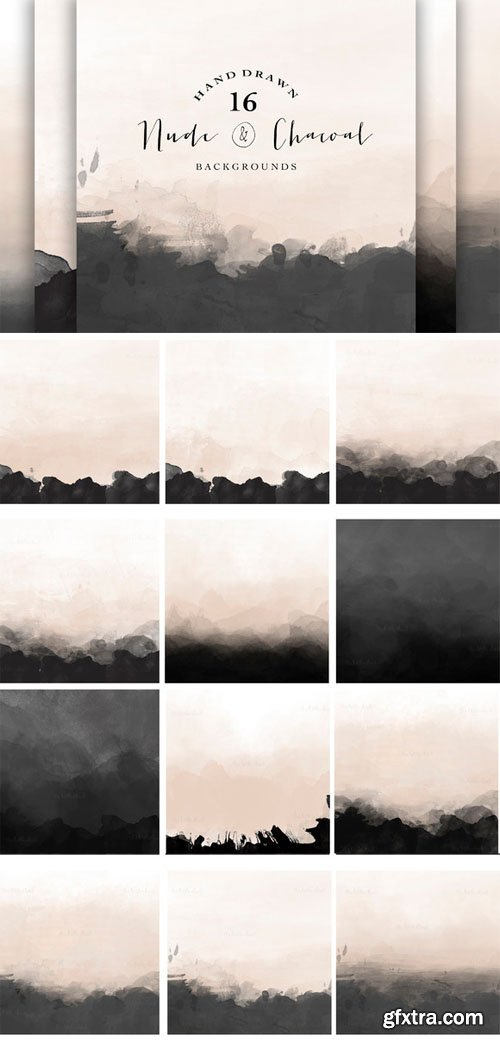 Nude and Charcoal backgrounds - CM 87359