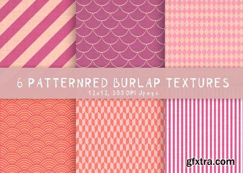 6 Burlap patterned textures - CM 194774