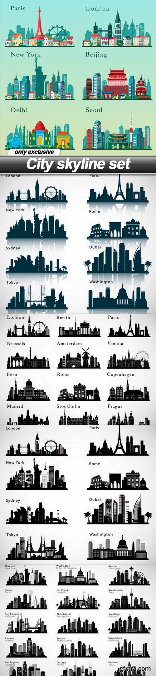 City skyline set - 5 EPS