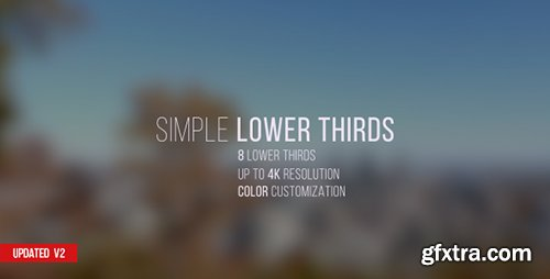 Videohive Simple Lower Thirds 12034789