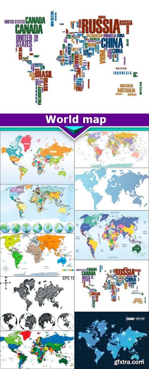 World map 10X EPS