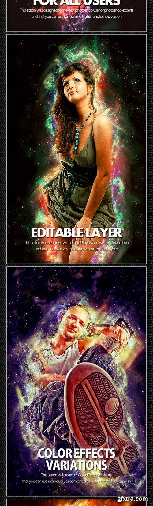 GraphicRiver - 12130663 Galaxians Photoshop Action