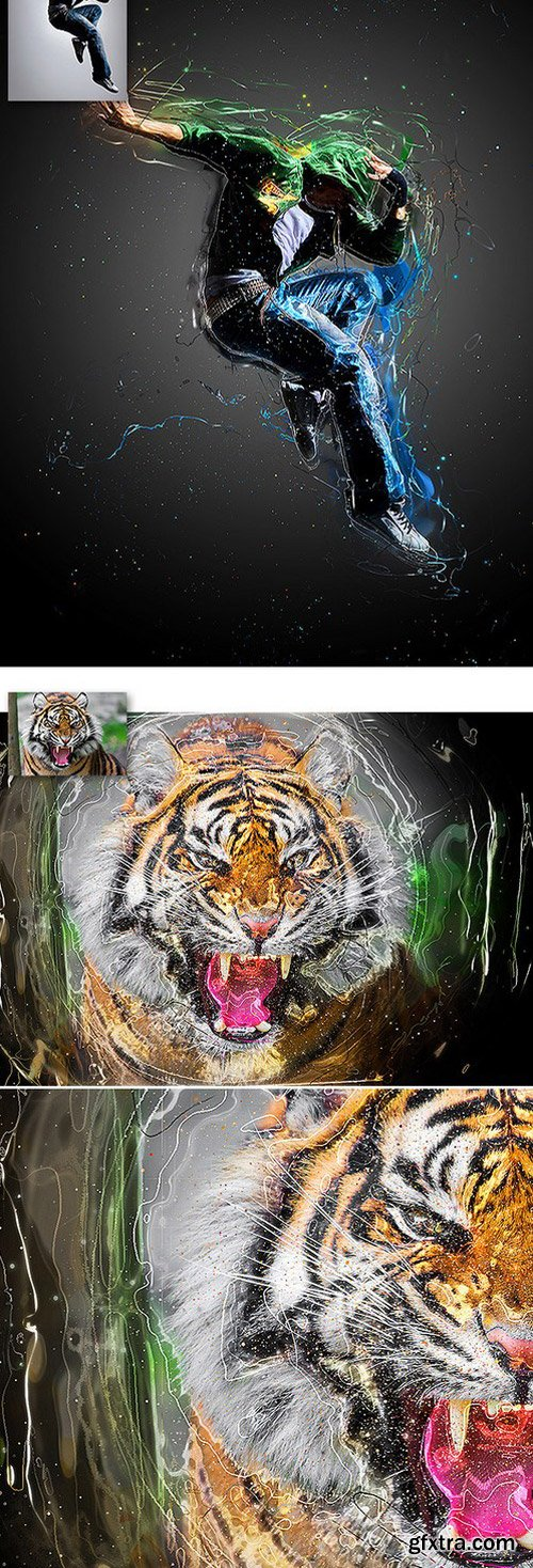 GraphicRiver - 12093478 Hyperfuzum Photoshop Action Vol.1